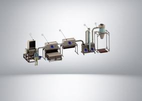Комплекс переработки пленочных и нитевидных отходов