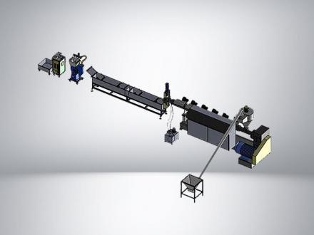 Линия грануляции ПЭТ 250 кг/ч Двухшнековая