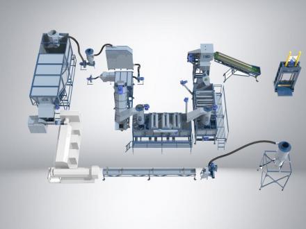 Дробильно-моечно-сушильный комплекс PZO 800MKG-S
